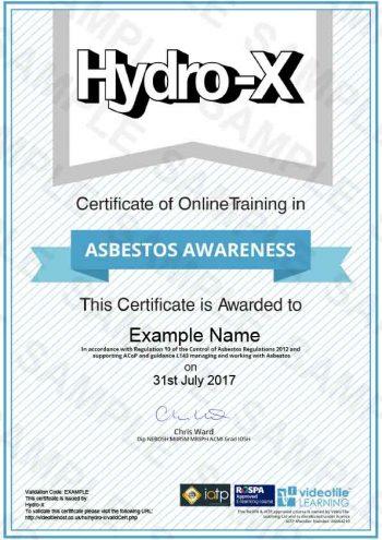 Asbestos-Awareness cert