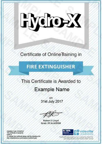 Fire-Extingusher cert