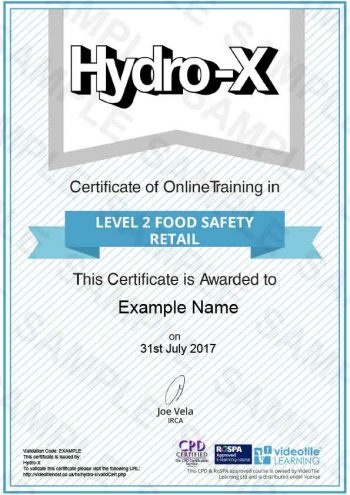 Level-2-Food-Safety-Retail cert
