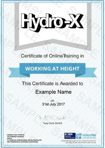 Working-at-Height cert