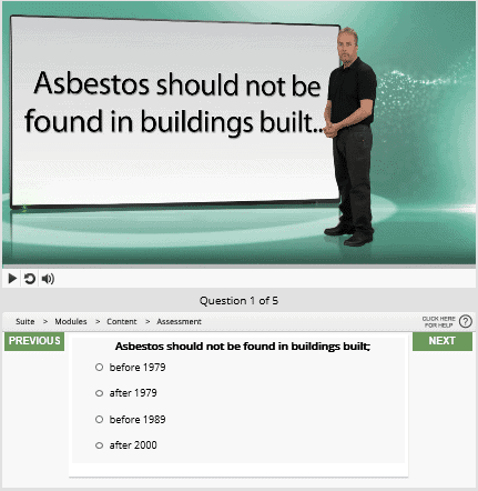 asbestos awareness questions