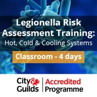 Legionella Risk Assessment Training Course With Cooling City and Guilds
