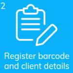 Register coronavirus test barcode